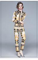Totem Baskı İki Parçalı Pantolon Kadınlar Bahar Ve Sonbahar Bayanın 2 Parça Setleri 2021 Kızın Gömlek Pantolon