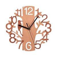 Двухслойный трехмерный птица настенные часы дома деревянные творческие настенные часы дома украшения HH9-3698