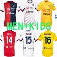 Novo 2020 2021 Homens e Crianças 20/21 Cagliari Calcio Jersey João Pedrosimeone Maillot de Foot Camiseta Limitada Edição Camisa de Futebol