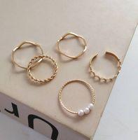 Корейский темперамент женское многослойное кольцо эстетический ремонт пальцев кольцо жемчужное кольцо установить красивый, простой и щедрый 22