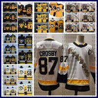 2021 Reverse Retro Pittsburgh Penguins Stadium Series 87 Sidney Crosby Evgeni Malkin Jake Guentzel Kris Letang Mario Lemieux Hóquei Jerseys