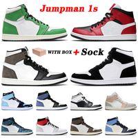 retro 1 1s off white Top TWIST Jumpman 1 1s Homens tênis de basquete Sorte Verde Mid Chicago Toe Retro alta Mocha Mulheres Formadores Sneakers
