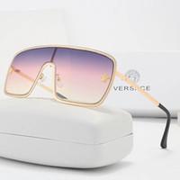 2020 تصميم العلامة التجارية النظارات الشمسية النساء الرجال العلامة التجارية مصمم نوعية جيدة الأزياء المعادن المتضخم نظارات شمسية خمر أنثى الذكور uv400.