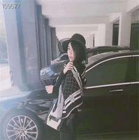 الشتاء أزياء المرأة الحرير وشاح جديد وصول الرجل إمرأة 4 مواسم شال وشاح شعرية رسائل الأوشحة الحجم 190x65 سنتيمتر أعلى جودة