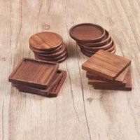 الصلبة الخشب الوقايات القهوة شاي كوب منصات معزول الشرب الحصير الأسود الجوز إبريق الشاي الجدول ماتس المنزل مكتب الحصير الديكور LLS81