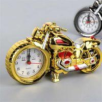 Творческий ретро будильник мотоцикл будильник будильник поезда велосипед моделирования модель будильник детский праздник подарок украшения дома DDD4184
