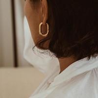 베스트 셀러 Chic O 모양의 후프 귀걸이 여성 chunky 후프 기하학적 금속 귀걸이 미니멀리스트 쥬얼리