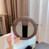 Runde Tasche Mond Klassische Designer Frauen Mode Kreis Schulter mit Bogen Vintage Diamant Gitterstreifen Metallic Cross Body Bags