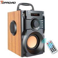 TopoRoad Portátil Bluetooth Speaker Sem Fio Subwoofer Subwoofer Subwoofer Bass Boombox Caixa de som Suporte FM Rádio TF AUX USB LJ201027