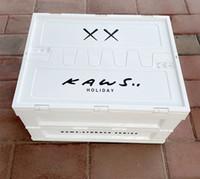 Caixas de armazenamento kaws caixas 30 * 41 * 45cm casa tronco de carro dobrável caixa de armazenamento organização plástico branco moda por atacado