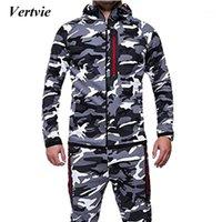Vendita calda nuovo uomo moda camouflage giacca autunno maschio con cappuccio caldo cappotto spessore all'ingrosso Plus size 3xl1