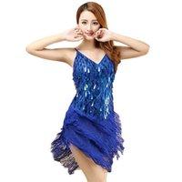 Robe de danse latine pour dames 1920s Fringe Robe de danse latine pour femme Partie Tassel Fringes Suite Dessens pour la danse Performance1