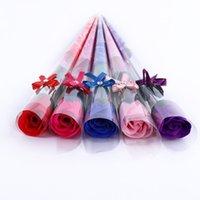 Valentinstag Rose Rose Seifenblume Romantische Bad Blume Seife Für Freundin Hochzeit Gefälligkeiten Festliche Partei Supplies YHM791