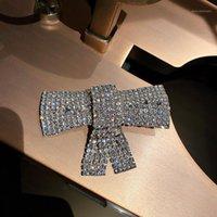 Clips de pelo Barrettes Fyuan Full Rhinestones Bowknot Horquillas para las mujeres Bijoux Exquisito Accesorios de estilo coreano de la novia Joyería de la boda1