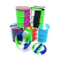 XL silicona cera recipiente de barril 500 ml de grado alimenticio antiadherente de grado grande concentrado grande Dabs Hierbas secas Tumming Jar DHL gratis