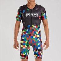 Zootekoimi Hommes 2020 Jersey Cyclisme Ensembles Triathlo Skinsuit Trisuit Suit de corps à manches courtes Ropa Ciclismo Combinaison de vêtements Maillot1