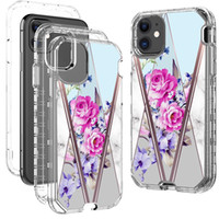 iPhone 12 Pro Max 11Pro Max Case Luxury Marble 3 In 1 헤비 듀티 Shockproof 전신 보호 커버 케이스 아이폰 XR XS Max Note 20