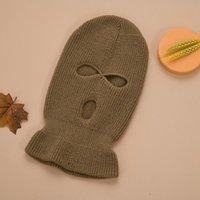 Neue 3-Loch-volle Gesichtsabdeckung Ski-Maske Winterkappe Balaclava Haubenmütze Warme taktische Partei Hüte 14 Farben K1210