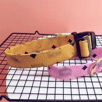 Klassischer Brief gedruckt Haustier Halsbänder Frühlingsfall Neueste Designer Schnauzer Leashes Outdoor Luxus PU Bulldog Collars Leashes
