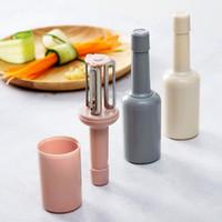 Forma de botella Color de color sólido Peeler Función multifunción Cuchillo de haz de Función Cocina con cubierta Mirado Knifes HOGAR 2 7QS L2