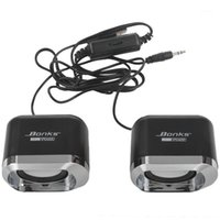 Altavoces de combinación USB 2.0 Portátil con cable Estéreo Mini altavoz de computadora para computadora portátil PC MP3 MP4 MP4 3.5mm AUX en Black1