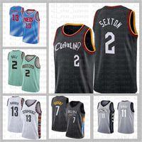"""Collin 2 Sexton Ja 12 Ahlaki Zion 1 Williamson Damian 0 Lillard 2021 Yeni Basketbol Forması Cleveland """"Cavaliers"""" Erkek Beyaz"""
