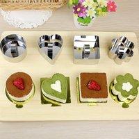 كعكة العفن مصغرة موس قوالب كعكة الفولاذ المقاوم للصدأ قوالب الكعكة مع دفع قطعة tiramisu القاطع المطبخ diy أدوات الخبز IIF4554