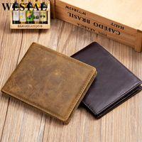 Westal Herren Blix Slimfold Leder Brieftaschen Herren RFID ID Bifold Wallet Kartenhalter für Reise Slim Herren Geldbörse Geld Taschen 7444