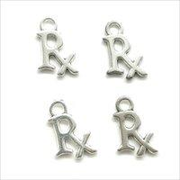 Los 200 stücke RX Brief Antike Silber Charms Anhänger DIY Schmuck Finden für Schmuckherstellung Armband Halskette Ohrringe 15 * 10mm