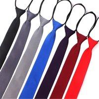 Zipper Electie для мужчин Женщины галстук для мальчиков для мальчиков для девочек для девочек девочек 6см Соливки тонкие девочки шеи Tiie Gravatas резиновый предварительно завязанный галстук T200805