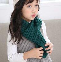 طفل الحياكة وشاح الفتيان الفتيات طفل أزياء عادي الأوشحة الدافئة الخريف الشتاء الاطفال دافئ نسج الأوشحة