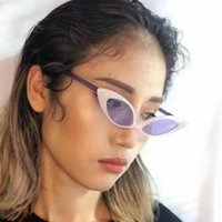 2020 Exportação Nova Marca Designer Cat Eye Óculos de Sol para Mulheres PartyStage Eyewear Feminino Estilo Especial Óculos Slim Frame N328