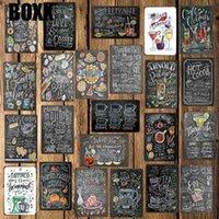 2021 Kaffee Cocktail Liebe Kuchen Tee Brief Zinn Zeichen Home Wand Plaques Benutzerdefinierte Metall Malerei Antike Geschenk Bar Pub Shop Store Küche Dekor