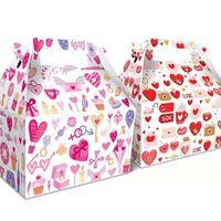 Valentine Paper Regalo Bag Red Pink Love Stampato Coppia Borsa regalo 210g Eco-friendly Girl Girl Friend Birthday Regalo regalo Borsa da imballaggio