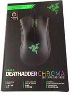Razer DeathAdder Chroma USB com fio óptico computador jogos mouse 10000dpi sensor óptico mouse rato mouse deathadder jogos