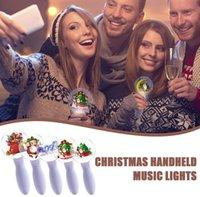 عيد الميلاد مصباح يدوي سانتا كلوز أضواء الليل العصي توهج الصمام عيد الميلاد الموسيقى العارض مصباح الجدة الهدايا لعبة ضوء لمهرجان ديكور F112106