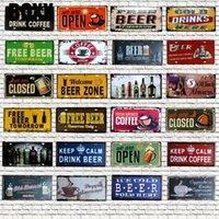 Café Bière Plaque d'immatriculation Numéro de plaque Plaque Tin Panneau Mur Pub Shop Maison Garage Art Décor Poster en métal 30x15cm Peinture pour salon