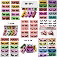 DHL GRATUIT 3D Mink Cils 5D 6D Cils Faux cils Faux cils 10 Style Eye Lash Extension Eye Eye Eye PAR FIBRE CHIMIQUE