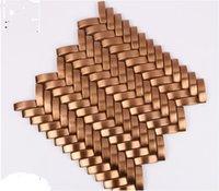 2021 Gorąca sprzedaż Materiały fabryczne Różowe złoto rysunek drutu ze stali nierdzewnej metalowej mozaiki z różnych płytek ściennych arch mozaiki