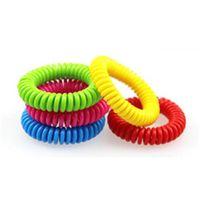 Новые хорошие качественные москитные репеллентные браслеты Bracelets антимоскитористыми природными взрослыми и детьми запястья, смешанные цвета борьбы с вредителями 93 N2
