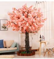 1M Longo Falso Flor de Cerejeira Flor Begonia Sakura Tree Haste para Evento Casamento Árvore Deco Artificial Flores Decorativas