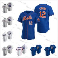 12 Francisco Lindor Jersey 2020 Novo Personalizado Jacob Degrrom Pete Alonso Mets Mike Piazza Dwight Gooden Keith Hernandez Darryl Strawberry York