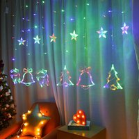 Tenda a LED Star Star e Luna String Holiday String Light Lampada Decorazione impermeabile per feste di nozze Natale LED Light 30pcs T1I3041