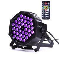 Nyaste Design 72W ZQ-B193B-YK-US 36-LED Purple Light Stage Light DJ KTV PUB LED-effekt Ljus högkvalitativ scenlampor Voice Control