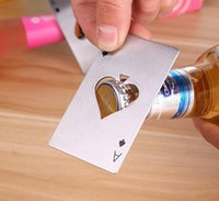 Bottiglia di forma creativa a forma di poker Can Opner Bottiglia di credito in acciaio inox Bottiglia da casinò Abrelotas Abrebotellas Pop 2022New