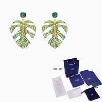 2021 moda swa novo folha tropical folhear brincos de folha tropical decoração de folha rosa brincos de ouro jóias presente