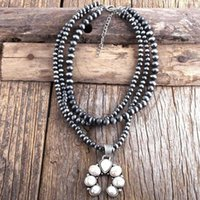 MD Fashion Boho Jewelry 3 Layer Gray Drawing CCB Moon Metal Stones Necklaces Women Bohemia Necklace Gift Dropship1