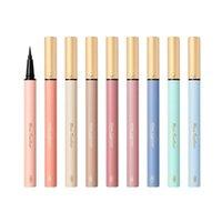 O delineador Alinice caneta colorido não mancha, impermeável, durável, principiante iniciante, cabeça fina, marrom muito fina, mulher azul.