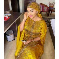Vestidos Africanos para Mulheres 2019 África Vestuário Muçulmano Vestido Longo de Alta Qualidade Comprimento Moda Africano Vestido para Lady1