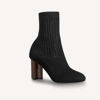 2020 여성 발 뒤꿈치 가을과 겨울 니트 탄성 부츠 섹시한 양말과 무릎 부츠 패션 스타킹 신발 긴 부츠 4